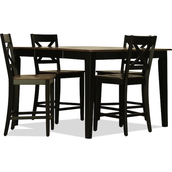 Dining Room Furniture - Sterling 5pc Counter Height Dining Set - Black