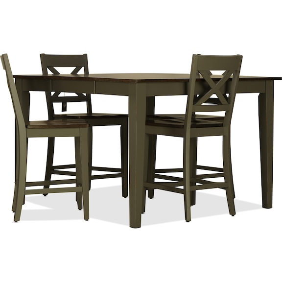 Dining Room Furniture - Sterling 5pc Counter Height Dining Set - Gray