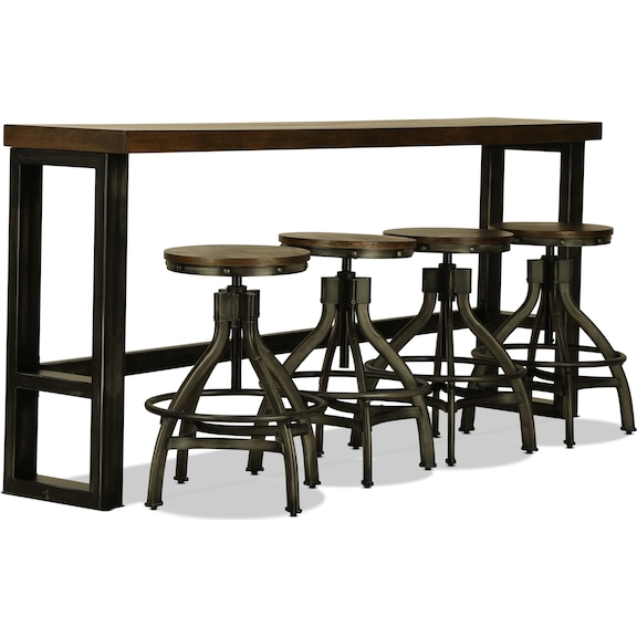 Accent and Occasional Furniture - Hughes Bar Table and Four Stools