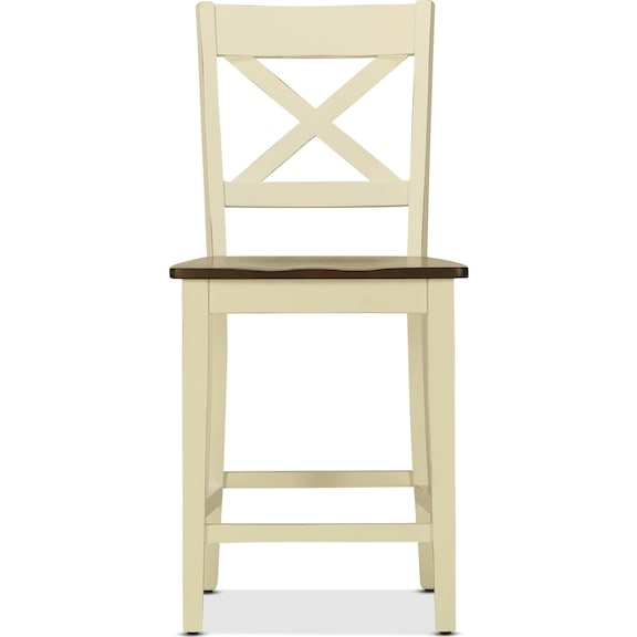Dining Room Furniture - Sterling Counter-Height Stool - White