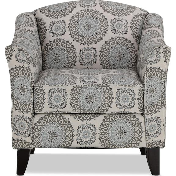 Living Room Furniture - Devon Accent Chair - Twilight