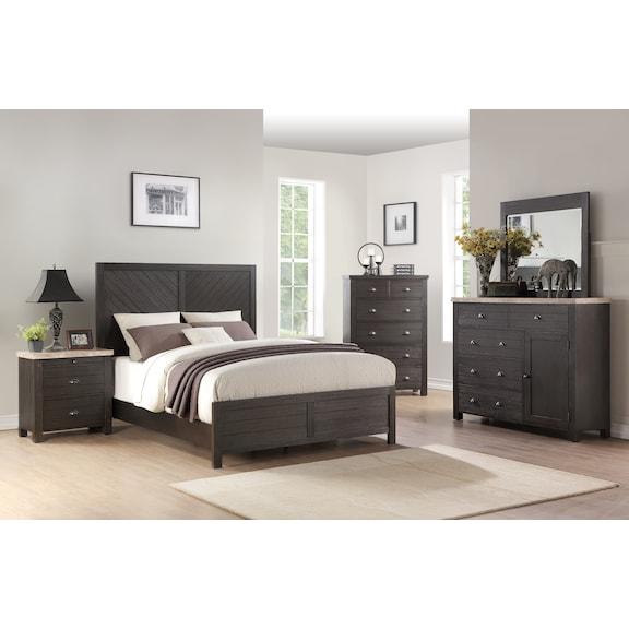 Bedroom Furniture - Shiloh 4pc Queen Bedroom