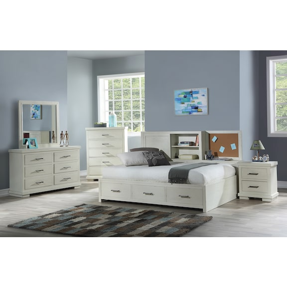 Kids Furniture - Andover 4pc Twin Lounge Bedroom