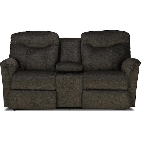 Living Room Furniture - La-Z-Boy Fortune Reclining Console Loveseat
