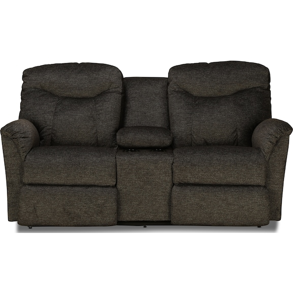 Living Room Furniture - La-Z-Boy Fortune Power Reclining Console Loveseat