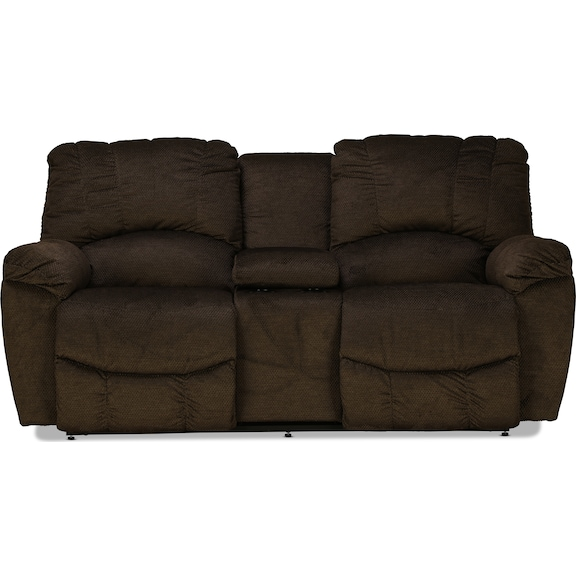 Living Room Furniture - La-Z-Boy Hayes Power Reclining Console Loveseat