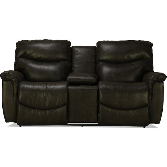 Living Room Furniture - La-Z-Boy James Power Reclining Console Loveseat