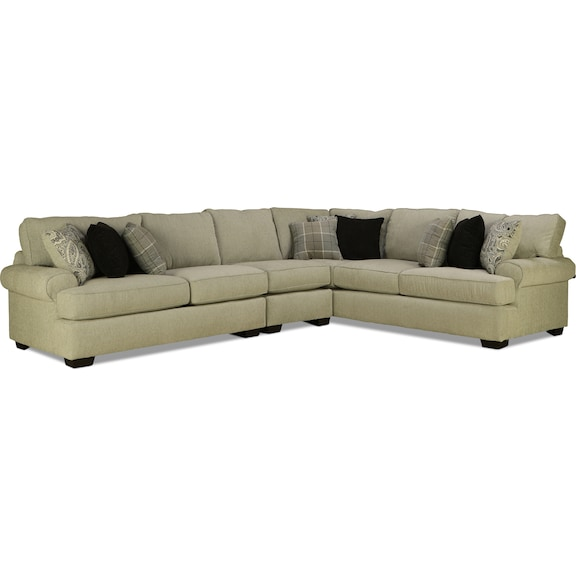 Living Room Furniture - Manhattan 3pc Sectional - Right Facing