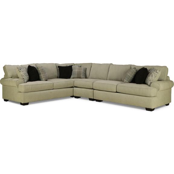 Living Room Furniture - Manhattan 3pc Sectional - Left Facing