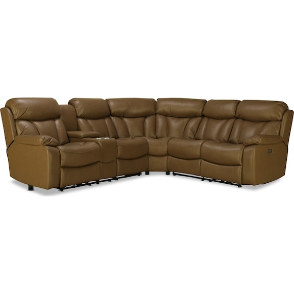 Living Room Furniture - Lexicon 3pc Power Reclining Sectional