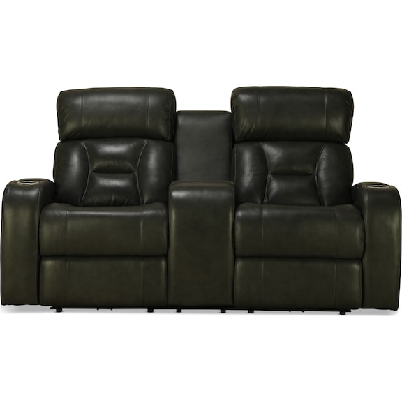 Living Room Furniture - Ashmere Power Reclining Console Loveseat