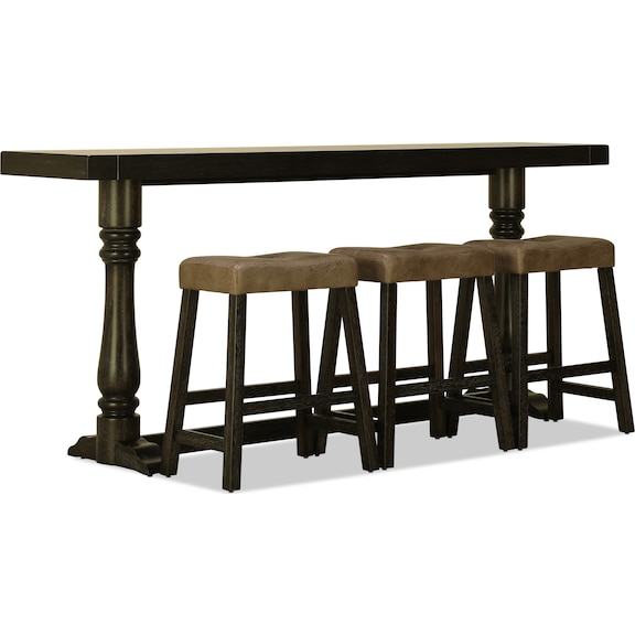 Accent and Occasional Furniture - Mason Sofa Bar Table and Three Stools