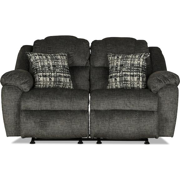 Living Room Furniture - Mahoning Rocking Reclining Loveseat