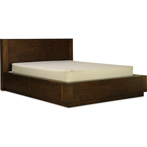 Bedroom Furniture - Cassia Queen Storage Bed - Two Sided