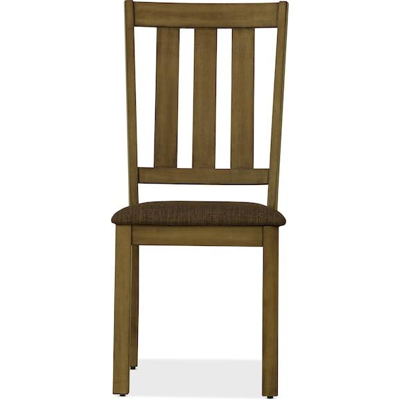 Dining Room Furniture - Suncadia Slat Back Side Chair - Sandstone