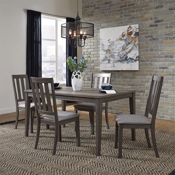 Dining Room Furniture - Suncadia Slat Back Side Chair - Grey