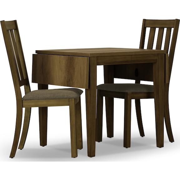 Dining Room Furniture - Suncadia 3pc Drop Leaf Dining Set - Grey