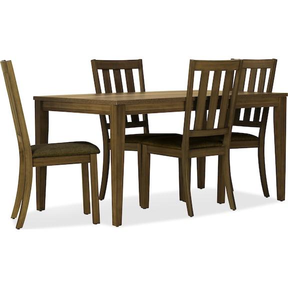 Dining Room Furniture - Suncadia 5pc Leg Table Dining Set - Sandstone