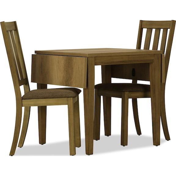 Dining Room Furniture - Suncadia 3pc Drop Leaf Dining Set - Sandstone