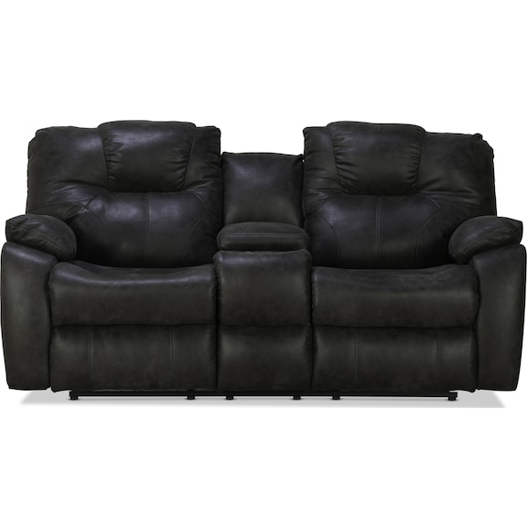 Living Room Furniture - Arlo Reclining Console Sofa