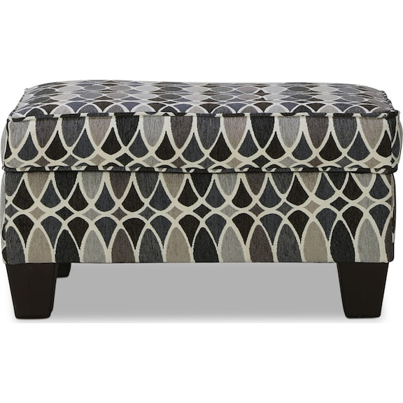Living Room Furniture - Orion Accent Storage Ottoman