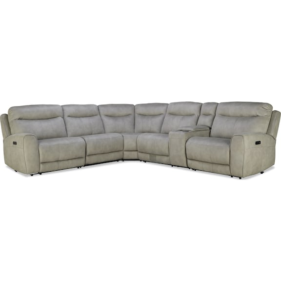 Living Room Furniture - Avalon 6pc Power Reclining Sectional