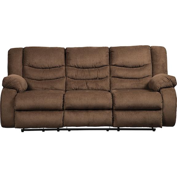 Living Room Furniture - Coppola Reclining Sofa - Chocolate