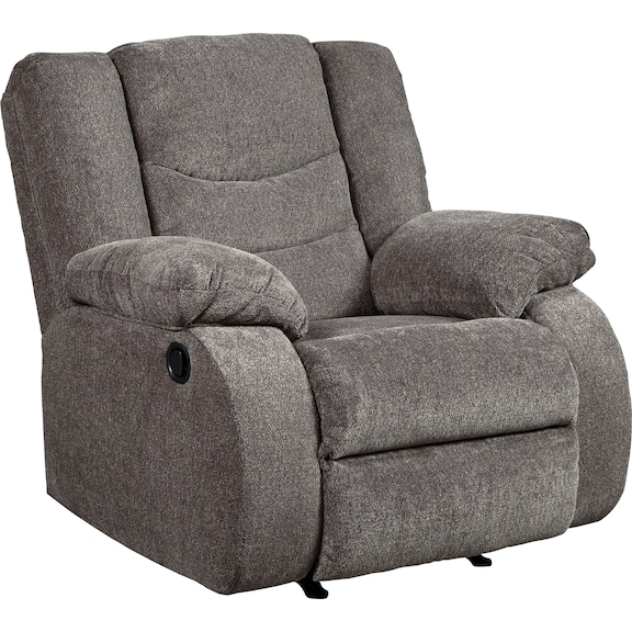 Living Room Furniture - Coppola Recliner - Gray