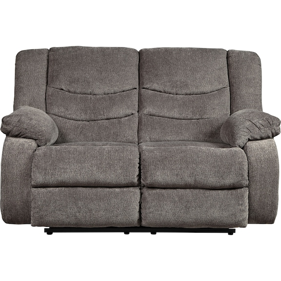 Living Room Furniture - Coppola Reclining Loveseat - Gray