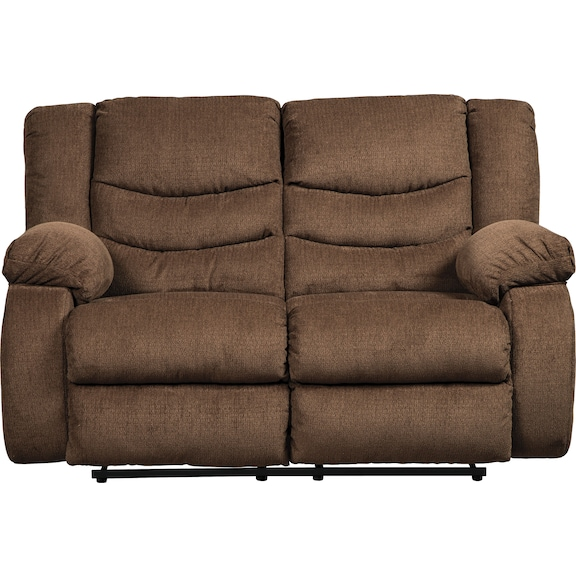 Living Room Furniture - Coppola Reclining Loveseat - Chocolate