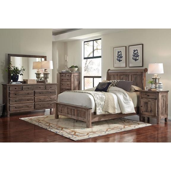 Bedroom Furniture - Lewiston 4-Piece King Bedroom Set