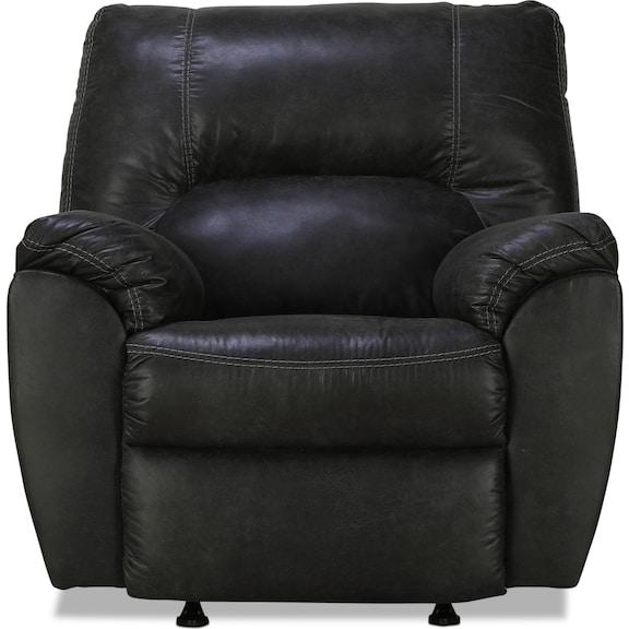 Living Room Furniture - Aykon Rocker Recliner - Pewter