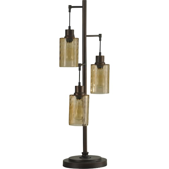 Home Accessories - Trilex 3-Light Hanging Glass Table Lamp