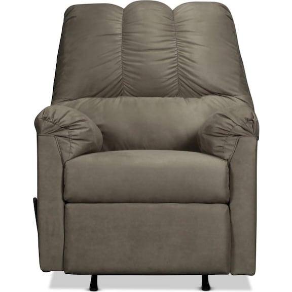 Living Room Furniture - Archer Rocker Recliner - Cobblestone