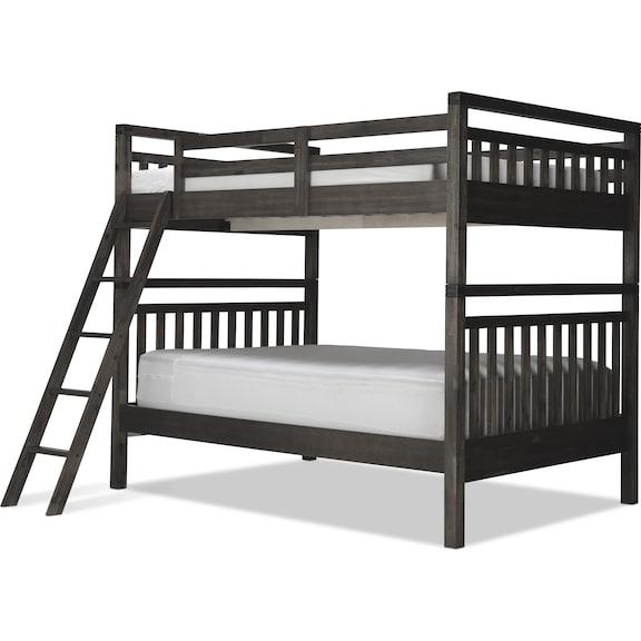 Kids Furniture - St. Croix Full/Full Bunk Bed - Charcoal