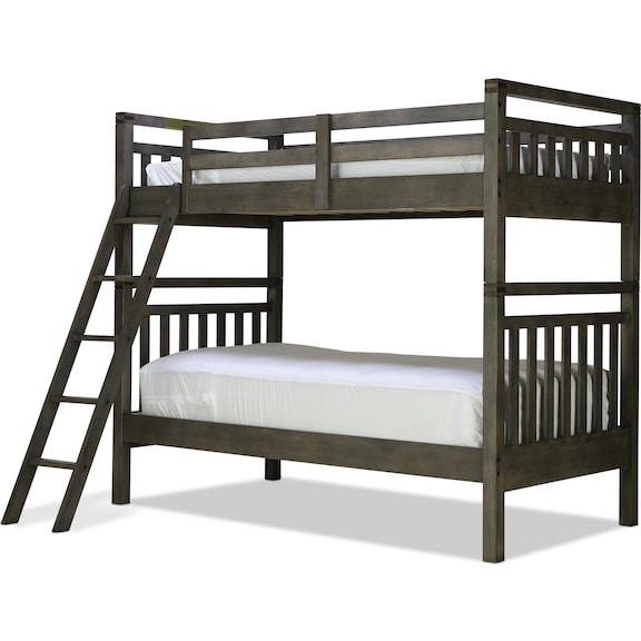 Kids Furniture - St. Croix Twin/Twin Bunk Bed - Charcoal