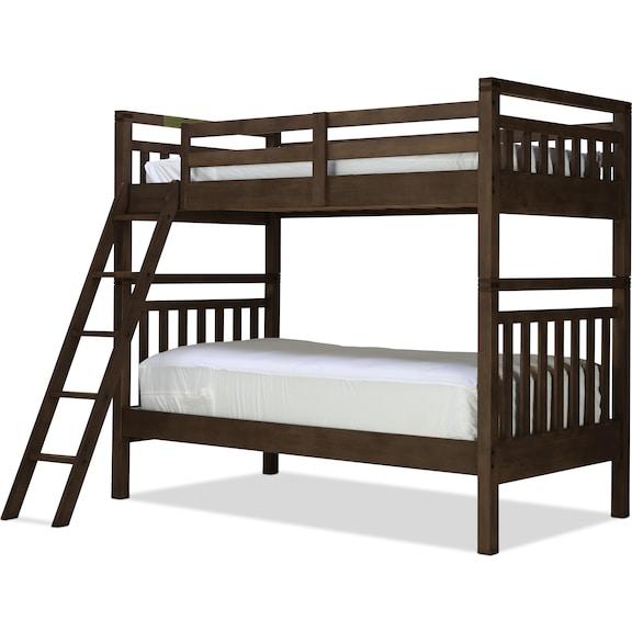 Kids Furniture - St. Croix Twin/Twin Bunk Bed - Walnut