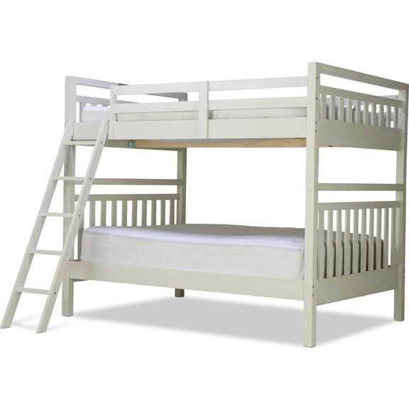 Kids Furniture - St. Croix Full/Full Bunk Bed - White