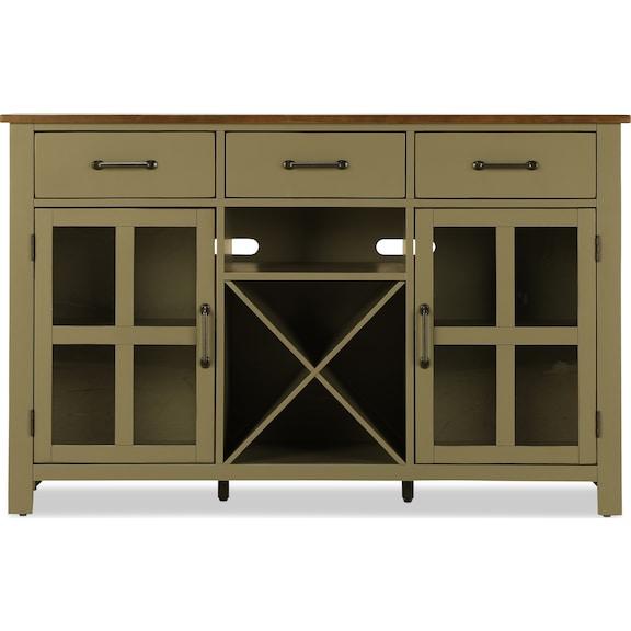 Dining Room Furniture - Sterling Server - Gray