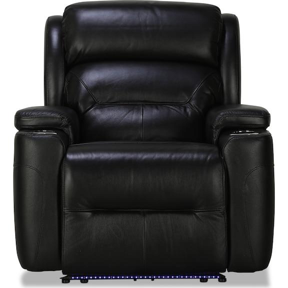 Living Room Furniture - Maddox Power Recliner - Onyx