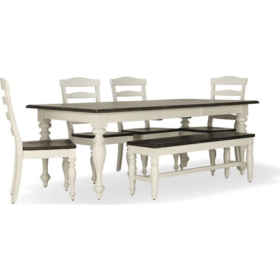 Dining Room Furniture - Carriage House 6pc Dining