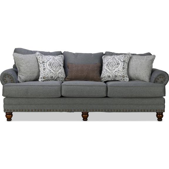 Living Room Furniture - Brookside Sofa - Charcoal