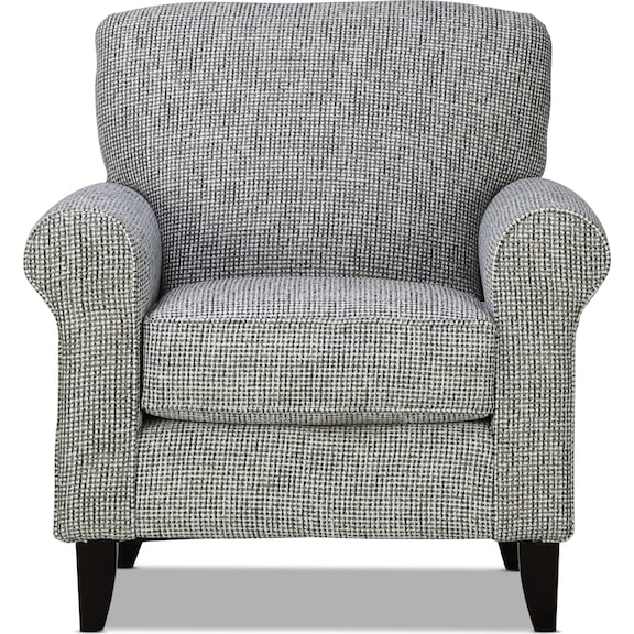 Living Room Furniture - Brookside Accent Chair - Indigo