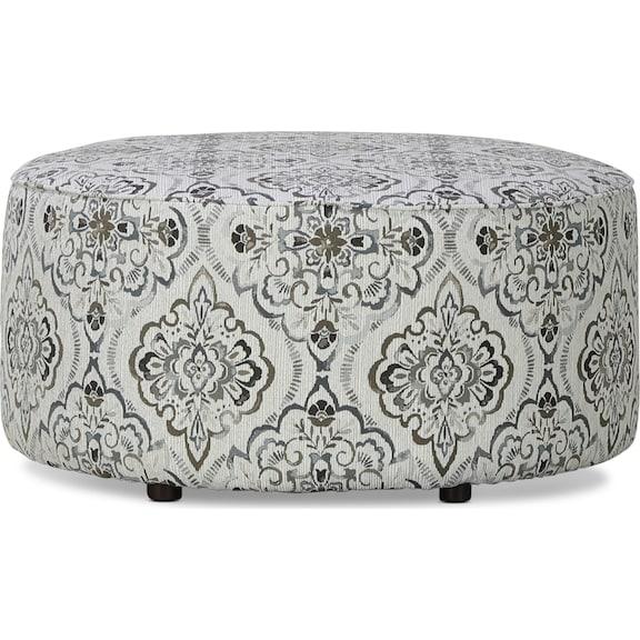 Living Room Furniture - Brookside Cocktail Ottoman - Cascade