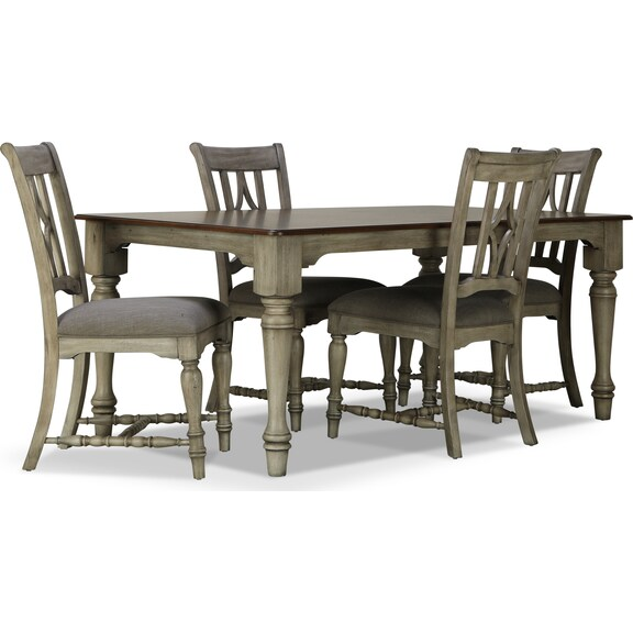 Dining Room Furniture - Farmhouse 5pc Dining