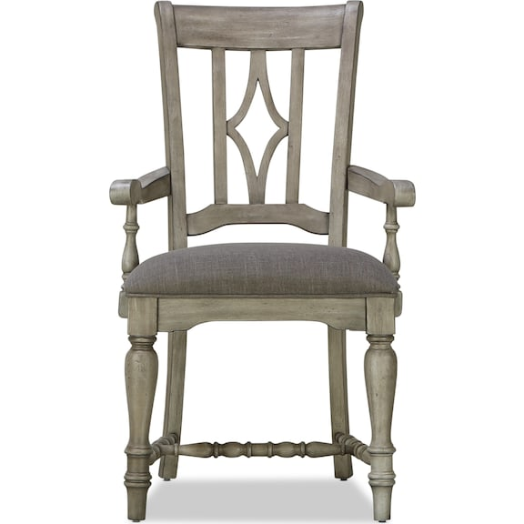 Dining Room Furniture - Farmhouse Upholstered Arm Chair