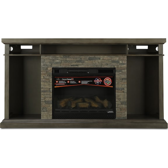 Accent and Occasional Furniture - Castrock Media Mantel and 3D Firebox