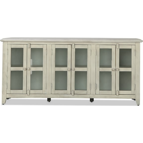 """Entertainment Furniture - Bryce 70"""" TV Console - Marble White"""