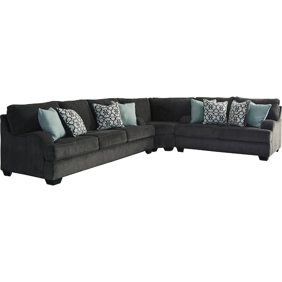 Living Room Furniture - Carlin 3 Piece Sectional