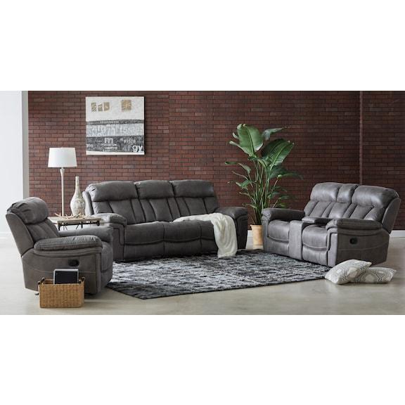 Living Room Furniture - Gallentine Reclining Sofa